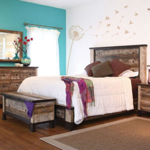 antique distressed pine complete bed