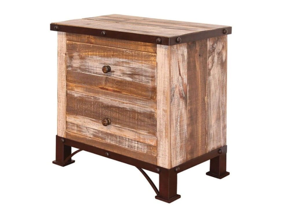Antique Pine Chest 2-Drawers by IFD