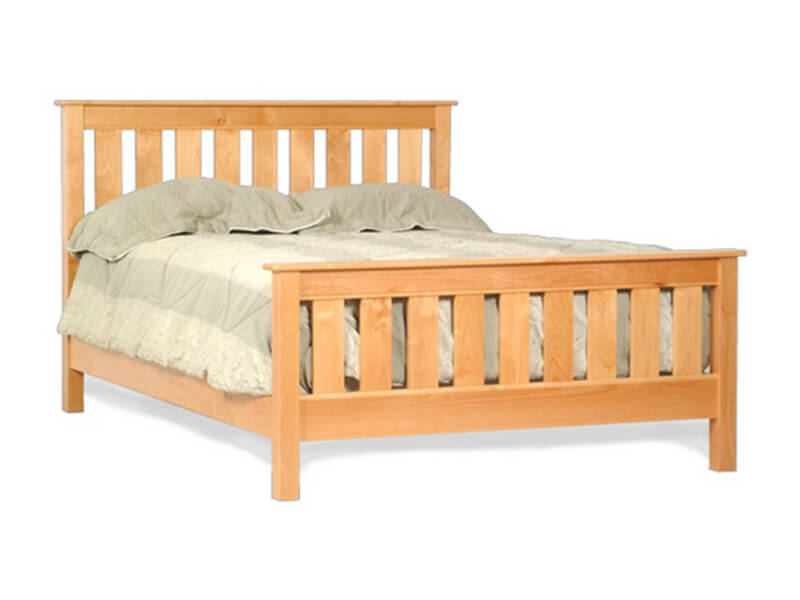 Slat bed american woodcraft bedrooms more seattle for American furniture bed frames