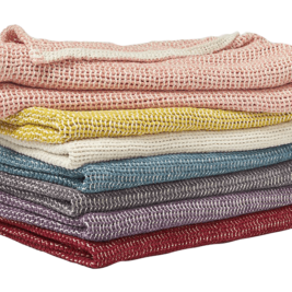 Coyuchi Chenille Chunky Weave Blanket