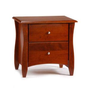 clove 2-Drawer nightstand cherry metal knob lg
