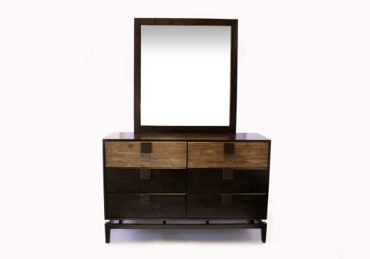 Quality Bedroom 6 Drawer Dresser w/ Mirror