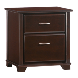 Night & Day Jumiper 2 Drawer Night Stand (Chocolate)