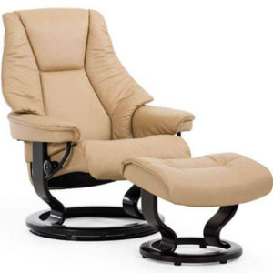 Live Chair and Ottoman