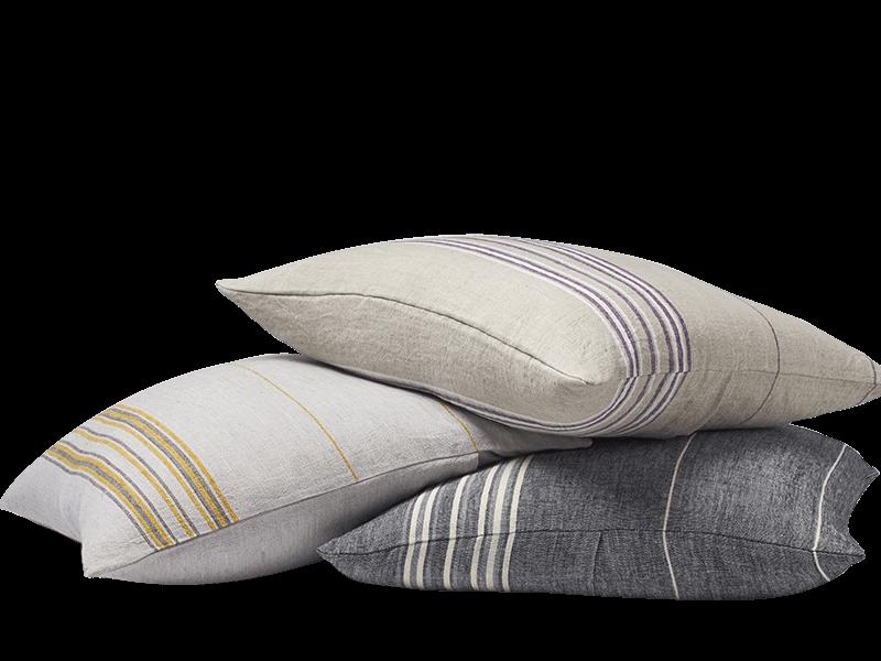 Rustic Linen Pillow Euro Sham
